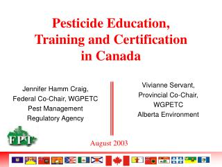 Pesticide Education, Training and Certification in Canada