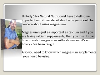 Special Tips That Reveal Why You Should Use Magnesium
