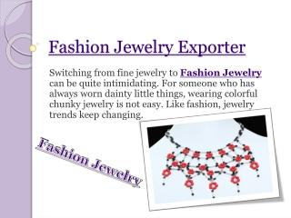 Fashion Jewelry Exporter