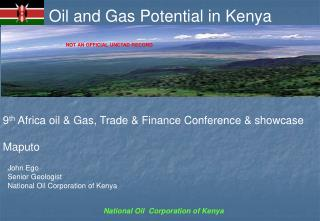 Oil and Gas Potential in Kenya