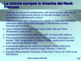Le colonie europee in America del Nord: Francesi