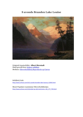 S avonds Branden Lake Louise -- Artisoo