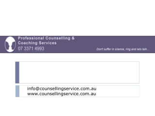 Proofessional Counselling