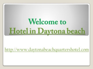 Daytona beach quarters hotel downtown