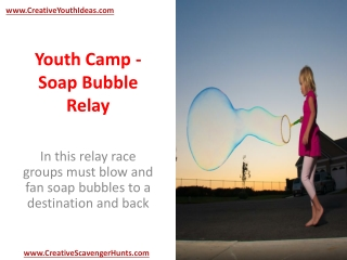 Youth Camp - Soap Bubble Relay