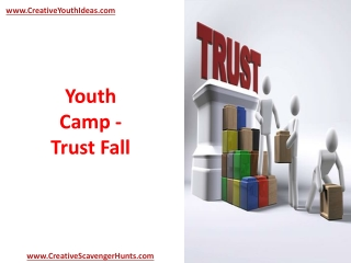 Youth Camp - Trust Fall