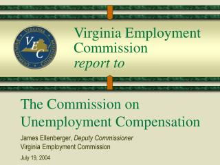 Virginia Employment Commission  report to