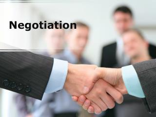 negotiation (modern) powerpoint presentation content: 121 sl