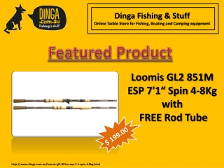 "Loomis GL2 851M ESP 7'1"" Spin 4-8Kg with free rod tube"