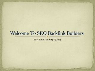 SEO Backlink Builders