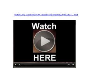 watch kerry vs limerick gaa football live streaming free jul