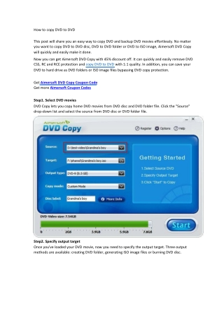 How to copy DVD to DVD