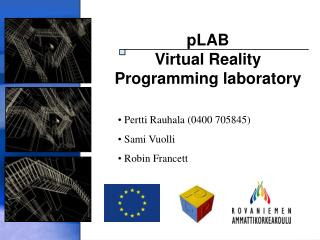 pLAB Virtual Reality  Programming laboratory
