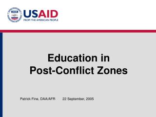 Education in  Post-Conflict Zones