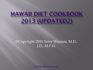 Hawaii Diet Cookbook 2013 (updated2)11