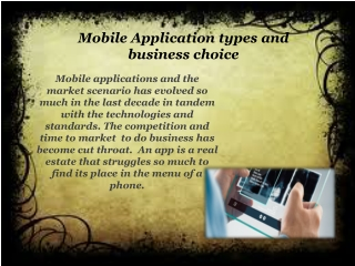 Mobile Application Types