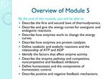 Overview of Module 5