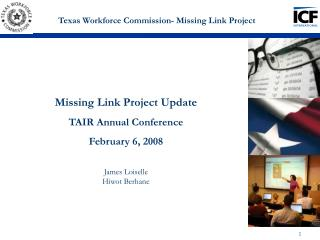 Texas Workforce Commission- Missing Link Project