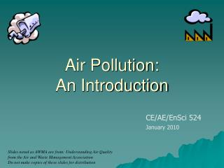 Air Pollution:  An Introduction