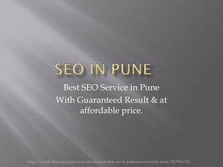Best SEO Service in Pune - Guarnteed and Affordable