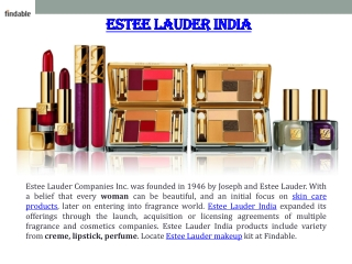 Explore Estee Lauder cosmetics make up and perfume at Findab
