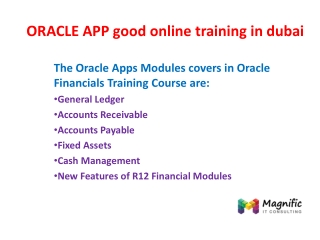 ORACLE APP good online training in dubai