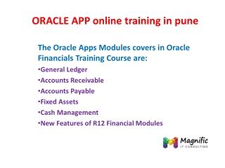 ORACLE APP online training in pune