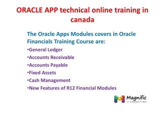 ORACLE APP technical online training in canada