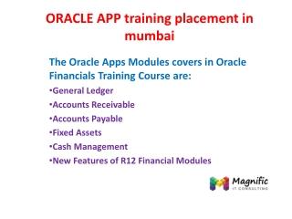 ORACLE APP training placement in mumbai