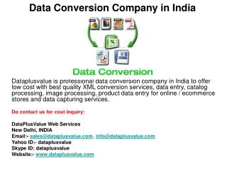 Data Conversion Company in India