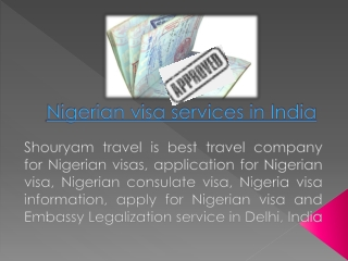 Nigerian visa services in India