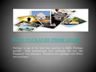 Tour Packages from Delhi