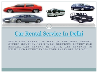 car rental service In Delhi