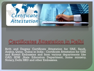 certificate attestation in delhi