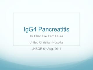 IgG4  Pancreatitis