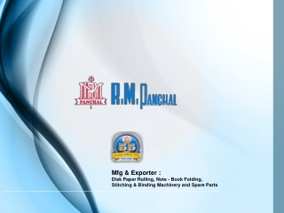 r.m. panchal : paper folding machine mfg