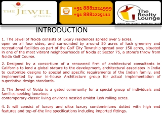 the jewel of noida | 8882224999 | designarch the jewel of no