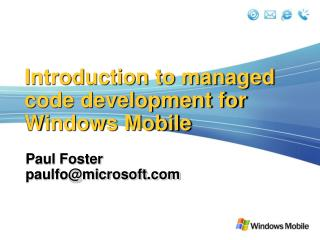 Introduction to managed code development for Windows Mobile