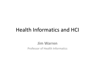 Overview of Health Informatics and Clinical Decision Support Systems