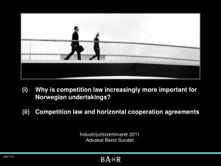 (i) 	Why is competition law increasingly more important for   	Norwegian undertakings?  (ii) 	Competition law and horizo
