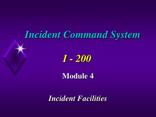 Incident Command System I - 200
