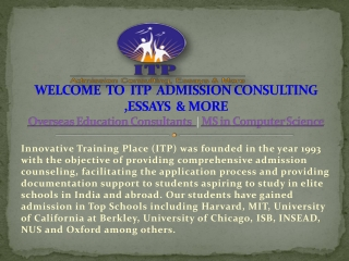 Overseas Education Consultants   MS in Computer Science