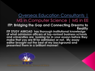 Overseas Education Consultants | MS in Computer Science