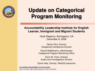 2011 2012 Federal Program Monitoring      California Accountability and Improvement System