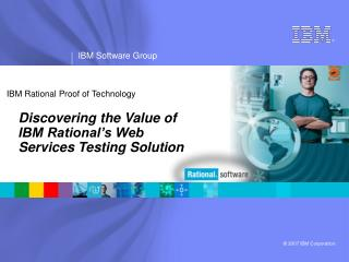 IBM Rational Proof of Technology