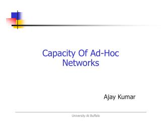 Capacity Of Ad-Hoc Networks