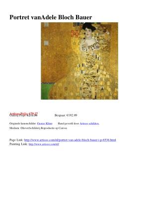 Portret van Adele Bloch Bauer - Artisoo.com