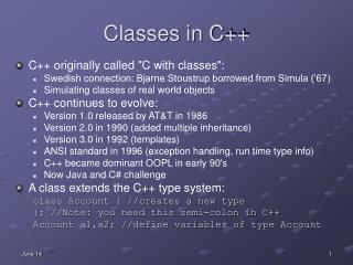 Classes in C++