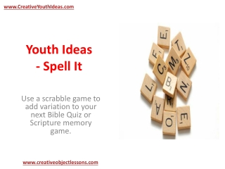 Youth Ideas - Spell It