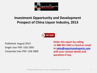 New Study: China Liquor Market 2013